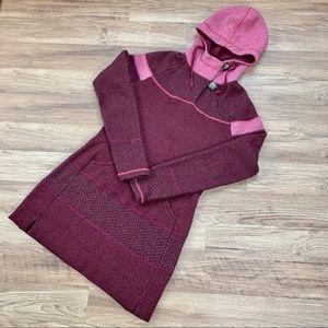 Prana Caitlyn tunic sweater, Pomegranate, sz M